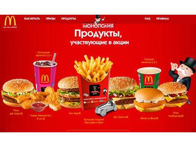 Акция McDonalds «Монополия в Макдоналдс 2015»