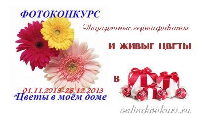 Фотоконкурс «Цветы в моем доме» и отличные подарки для цветоманов!